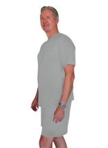 Cool-jams Wicking Men's Boxer Pajama Set in steel, Navy, and Black
