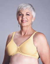 American Breast Care Seamless T-Shirt Mastectomy Bra in yellow