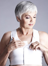 American Breast Care Post Surgical Velcro Front Compression Mastectomy Bra in white