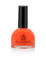 Water based nail polish called Hazard by Acquarella - orange