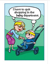 Cancer Girl, LLC -Shopping in the Baby Department Greeting Card