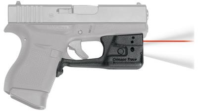 Laserguard Pro Series Fits Glock 42 and 43 Black Finish Red Laser - 610242006687