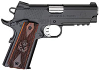 Model 1911 Lightweight Champion Operator .45 ACP 4 Inch Stainless Steel Bull Barrel Aluminum Alloy Frame Carbon Steel Slide Black Armory Kote Finish 3-Dot Tritium Sights Cross Cannon Grips 7 Round - 7