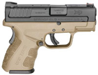 XDG Mod.2 Sub-Compact 9mm 3 Inch Barrel Flat Dark Earth Two 10 Round Magazines - 706397905118