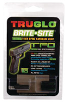 Tritium Fiber Optic Brite-Site Handgun Low Sight For Glock 17/17L/19/22/23/24/26/27/33/34/35/38/39 - 788130080764