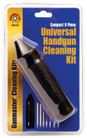GunMaster Universal 8 Piece Pistol Cleaning Kit .22-.45 With Aluminum Handle - 761903362014