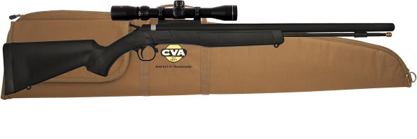 CVA PR2110SC - Wolf 50cal Muzzleloader w/ Scope & CVA Case - 043125321100