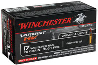 Winchester S17W20 20gr 17 Win Super Mag - (50/box) - 020892103085