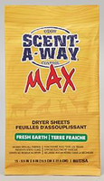 Hunter's Specialties 07708 Fresh Earth Scent-A-Way Max Dryer Sheets - 021291077083