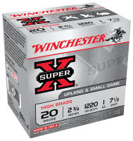 Super-X High Brass 20 Gauge 2.75 Inch 1220 FPS 1 Ounce 7.5 Shot - 020892000230