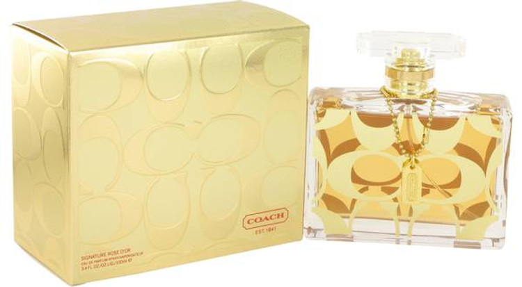 Signature Rose D'or Womens Perfume by Coach Edp Spray 3.4 oz