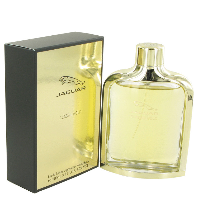 Jaguar Classic Gold Cologne for Men by Jaguar Edt Spray 3.4 oz