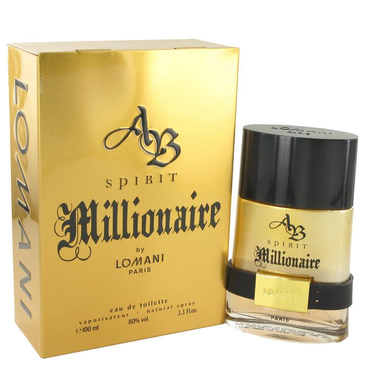 AB SPRIT MILLIONAIRE By Lomani For Men 3.3oz EDT