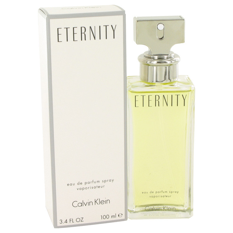 Eternity Perfume By Calvin Klein for Women Eau De Parfum Edp Spray 3.4 Oz