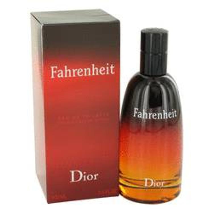 Fahrenheit Cologne Men by Christian Dior  Edt Spray  3.4 oz