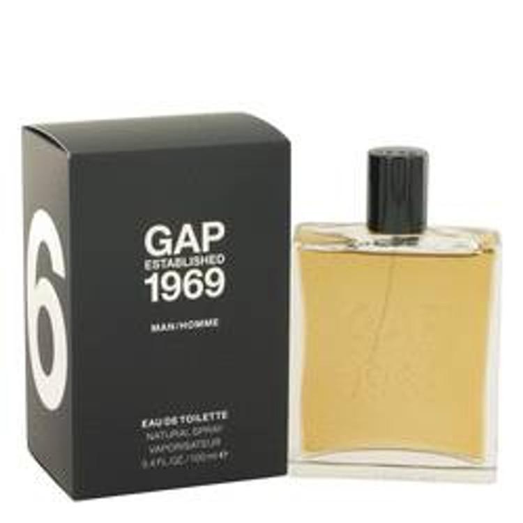 Gap 1969 Men's  Edt Spray  3.4 oz.