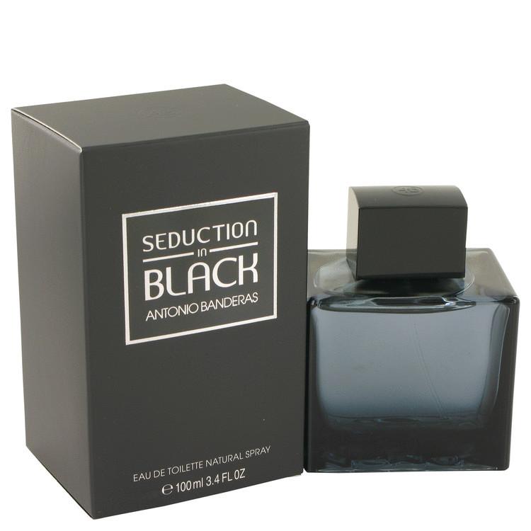 Seduction In Black Fragrance for Men Edt Spray 3.4oz