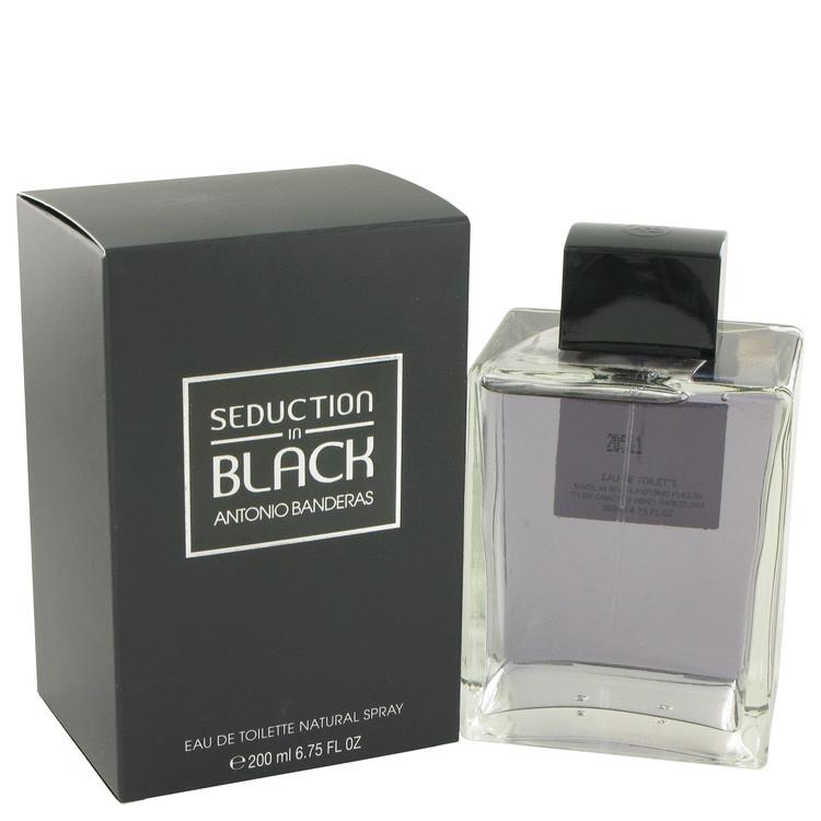 Seduction In Black Cologne For Men Edt Spray 6.7oz