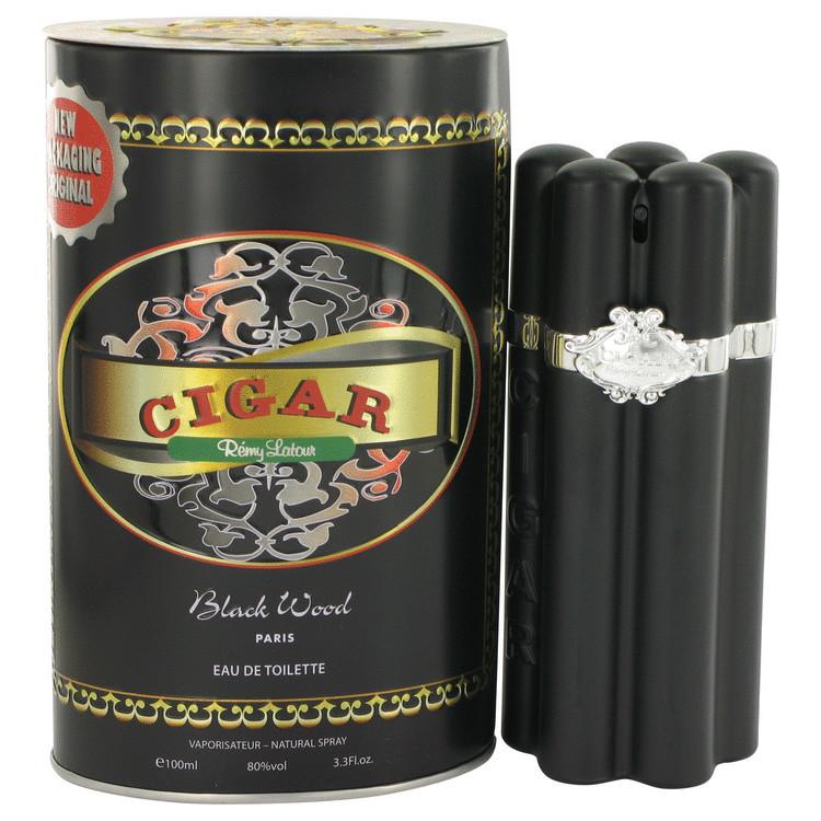 CIGAR BLACK WOOD by Remy Latour 3.4 oz EDT Men's Spray