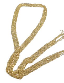 Gold Woven Mesh Necklace