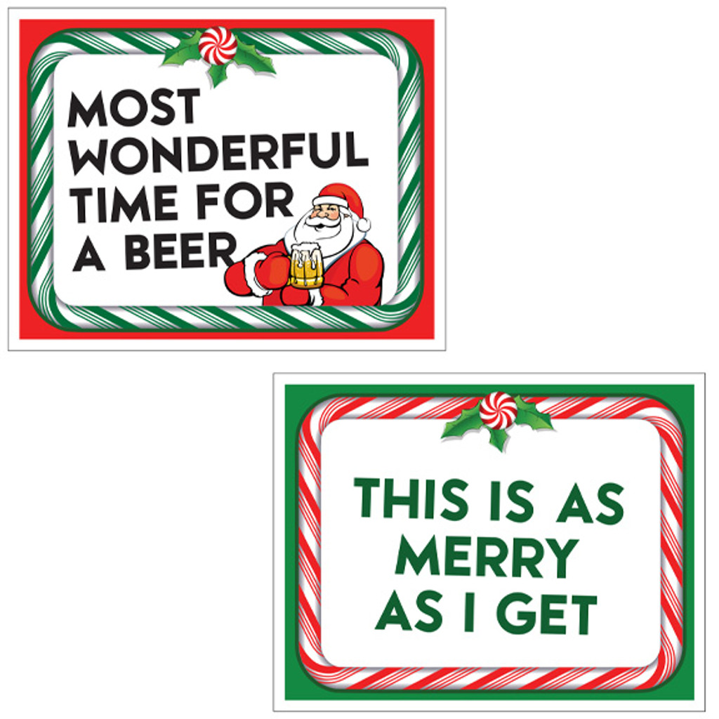 Christmas Signs Fun Bundle Photo Booth Props Prop Signs