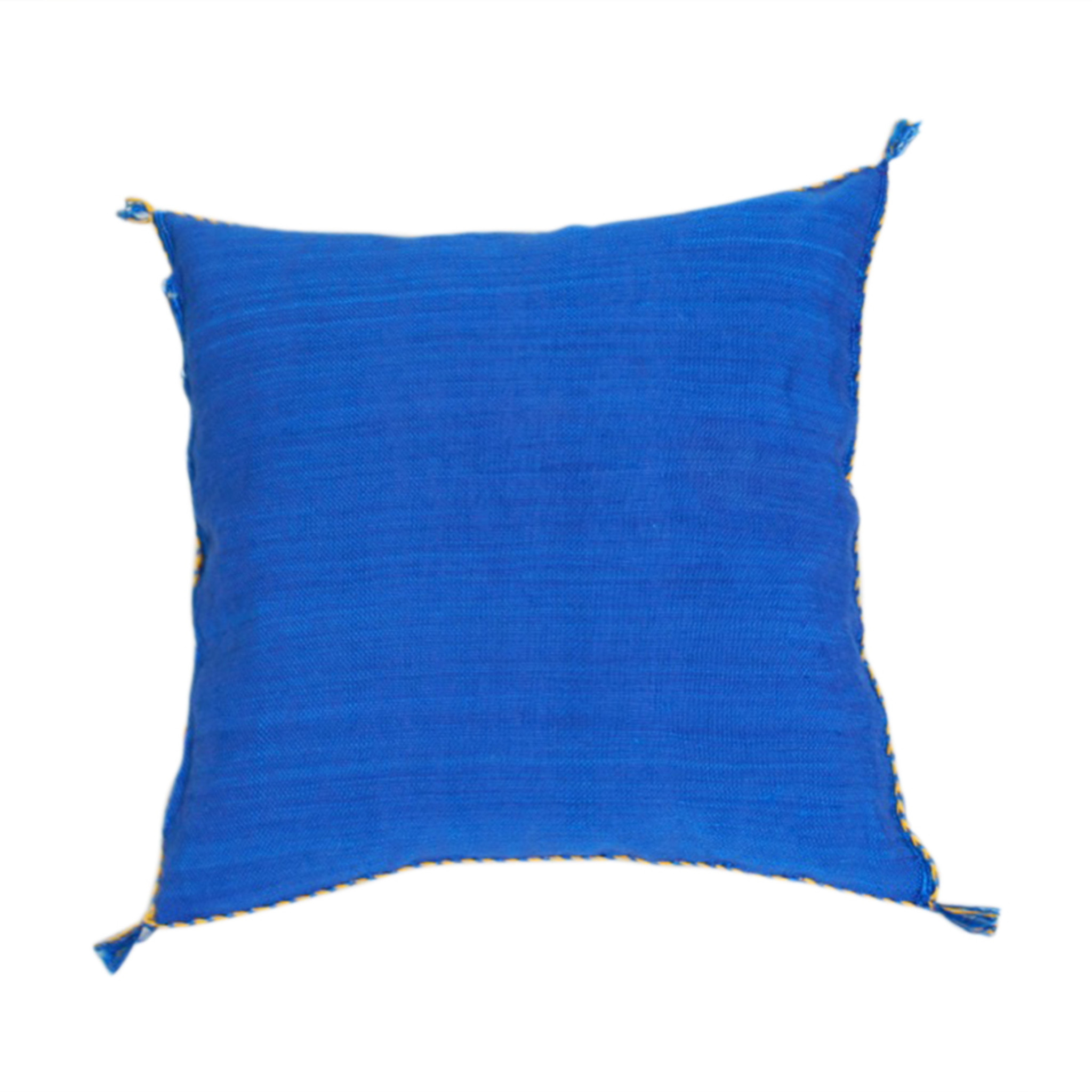 Cerulean Blue Throw Pillows : Sabra Silk Throw Pillow, Moroccan Store Pillow Sheherazade Home