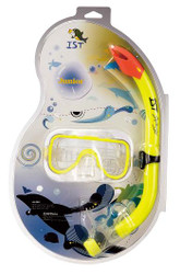 IST Sports Childs Mask & Snorkel Combo Set in Yellow
