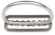 """Dive Rite 2"""" D-Ring Stainless Steel on Belt Slide."""