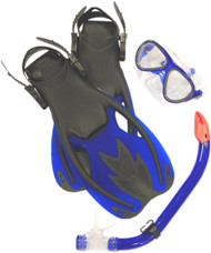 Ocean Junior Mask, Open Heel Fins & Snorkel Combo Set.