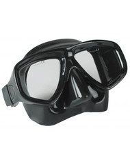 Dive Rite Double Lens Black Silicone Mask