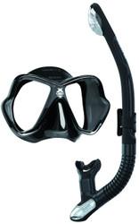 Mares X Vision Ultra Liquidskin Ergo Dry Mask & Snorkel Set. All Black