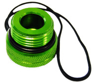 Beaver Aluminium DIN Male Cylinder Dust Cap in Green