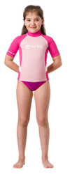 Mares Junior (Age 8 - 13) Pink Short Sleeved Rash Guard - Size choice