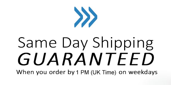 Same Day Shipping on all orders placed before 1pm UK Time