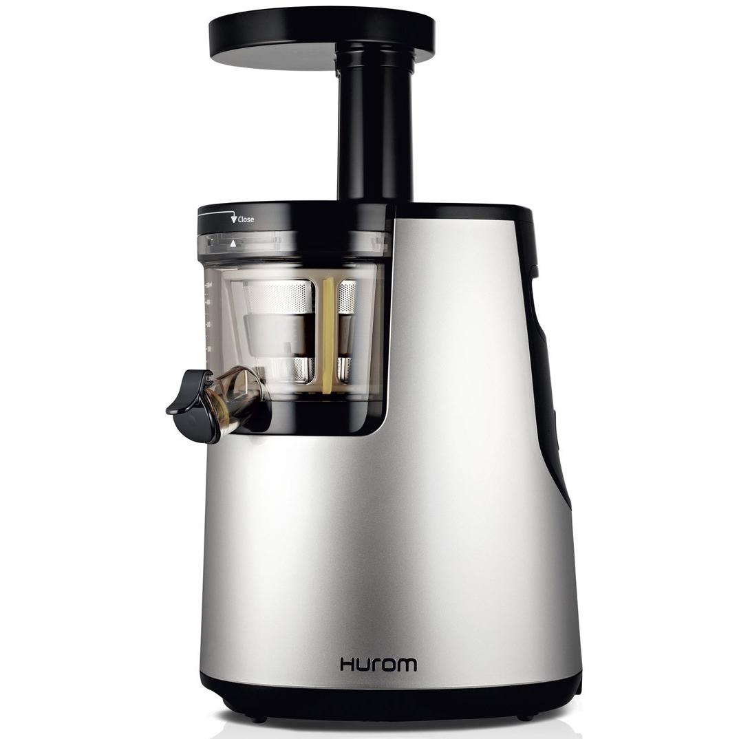 hurom hu 700 1st generation slow juicer in silver chrome. Black Bedroom Furniture Sets. Home Design Ideas