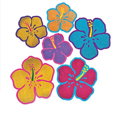 Jumbo Glittery Hibiscus Cutouts