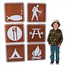Jumbo Camp / Picnic Sign Cutouts