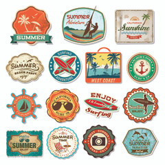 California Surf'in Party Stickers