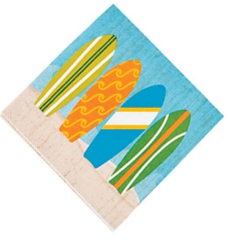 California Surf'in Beverage Napkins
