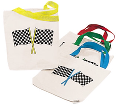 Speed Racer Checkered Flag Tote Bag