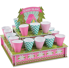 Glam Camping Treat Stand with Cones
