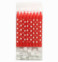 Candles, Red Stars