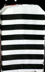 Treat Bag, Black and White Stripes