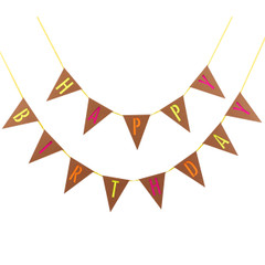 Neon Happy Birthday Bunting