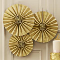 Paper Pinwheel, Glittery Gold