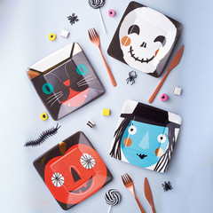 Halloween Faces, Small Plates