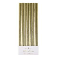 Paper Straws, Metallic Gold
