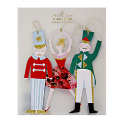Nutcracker Gift Tags with Gold Accents