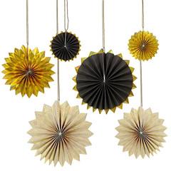 Paper Pinwheels, Gold and Black