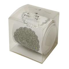 Stickers, Roll of 50 Silver Glitter